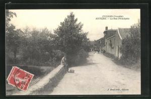 AK Cugand, Antiere, La Rue Principale