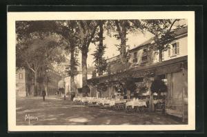 AK Versailles, La Terrasse du Cafe-Restaurant de Londres, 7, Rue Colbert
