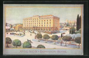 Künstler-AK Avignon, Dominion-Hotel