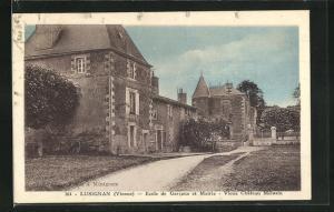 AK Lusignan, Ecole de Garcons et Mairie, Vieux Chateau Melusin