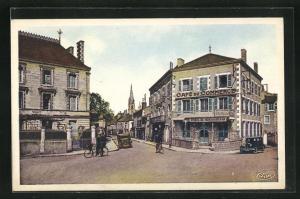 AK Montmorillon, La Sous-Prefecture et le Boulevard de Strasbourg