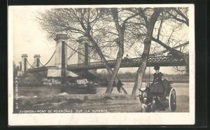 AK Avignon, Pont de Rognonas sur la Durance