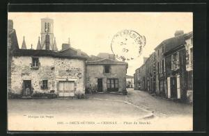 AK Cerisay, Place du Marche