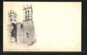 AK Montpellier, La Cathédrale, Teilansicht der Kathedrale