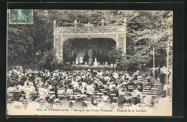 AK Versailles, Le Parc, Bosquet des Trois Fontaines - Théatre de la Verdure 0