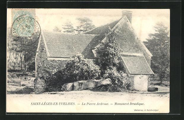 AK Saint-Léger-en-Yvelines, La Pierre Ardroue, Monument Druidique 0