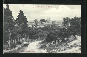 AK St-Bonnet-le-Chateau, Blick von einer Anhöhe auf den Ort