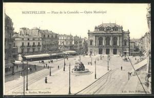 AK Montpellier, Place de la Comédie - Opéra Municipal