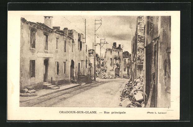 AK Oradour-sur-Glane, Rue principale 0