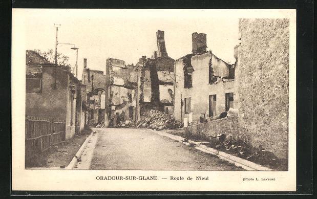 AK Oradour-sur-Glane, Route de Nieul 0