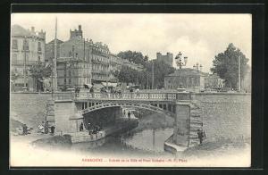 AK Narbonne, Entree de la Ville et Pont Voltaire