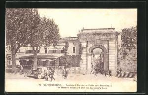 AK Carcassonne, Boulevard Barbes et Porte des Jacobins