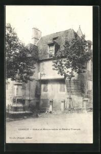 AK Correze, Statue et Maison natale du General Tramont