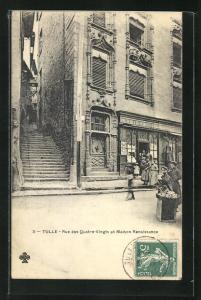 AK Tulle, Rue des Quatre-Vingts et Maison Renaissance