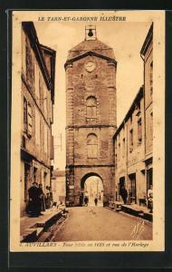 AK Auvillars, Tour batie en 1685 et rue de l'Horloge