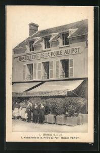 AK Juziers, L'Hostellerie de la Poule au Pot - Maison Veret