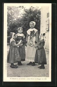 AK Niort, Jeune Mariée de Mougon vers 1860
