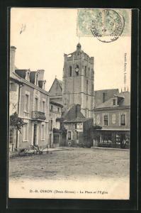 AK oiron, La Place et l'Eglise
