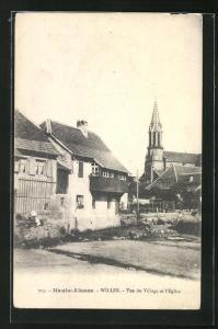 AK Willer, Vue du Village et l'Eglise