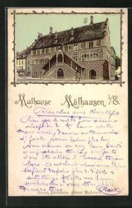 Passepartout-AK Mulhouse, Rathaus