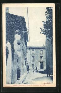 AK Adissan, Entree du Chateau et de l'Eglise