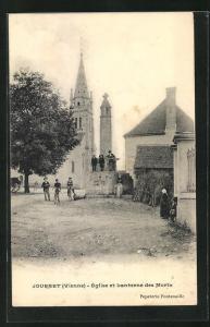 AK Journet, Eglise et Lanterne des Morts