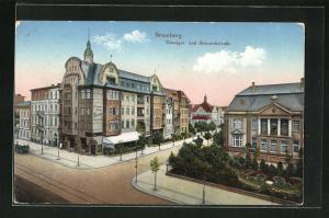AK Bromberg / Bydgoszcz, Danziger Ecke Bismarckstrasse