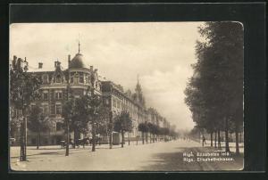 AK Riga, Blick in die Elisabethstrasse