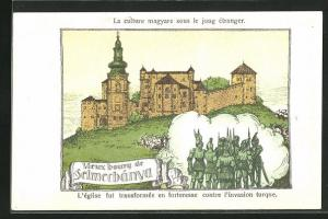 AK Selmecbanya, Ancient Castle, The church and the transformation in a fortress for defence against the Turkish invaders