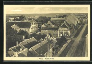 AK Mitau, Blick auf die Häuser in der Palalsstrasse