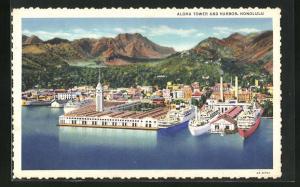 AK Honululu, Aloha Tower and Harbor