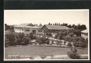 Foto-AK Fielding, Agricultural High School, Landwirtschaftsschule