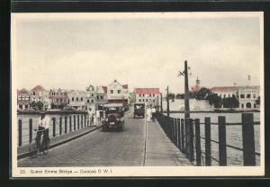 AK Curacao, Queen Emma Bridge, Brücke