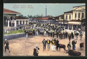 AK Tirana, Motiv vom Markt