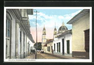 AK Bucaramanga, Calle 6a, Blick in die Strasse