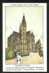Künstler-AK Kassa, Cathédrale, Blick auf die Kathedrale