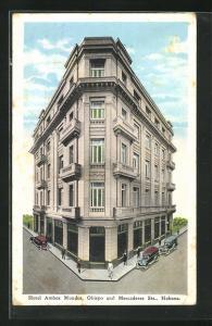 AK Habana, Hotel Ambos Mundos, Obispo and Mercaderes Streets