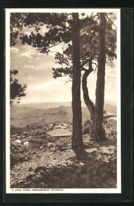 AK Prodhromos, Panoramablick vom Berg