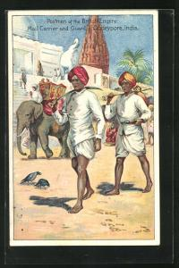 AK Oudeypore-India, Postmen of the British Empire, Mail Carrier and Guard