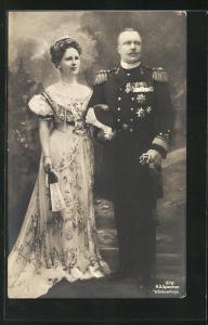AK Portrait Königspaar von den Niederlanden