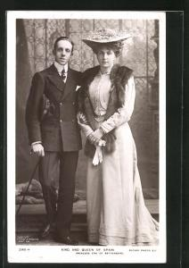 AK King and Queen of Spain, Princess Ena of Battenberg
