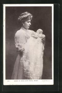 AK Queen of Spain with Royal Infant