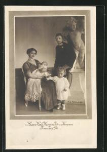 AK Kaiser Karl I. von Österreich, Kaiserin Zita u. Kronprinz Franz Josef Otto