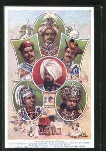 AK Mysore, H. H. The Maharaja of Mysore, H. H. The Maharaja of Baroda, H. H. The Maharaja of Gwalior and Sindhia