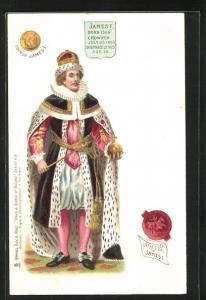 AK James I. von England, Born 1566, Crowned 1603, Died 1625