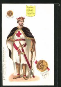 AK Richard I. von England, Born 1167, Crowned 1189, Died 1199