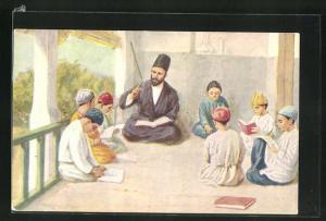 AK Mann unterrichtet Kinder