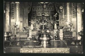 AK Penang, Snake Temple, Innenansicht