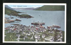 AK Wrangell, Alaska, Ortsansicht mit Schiffen