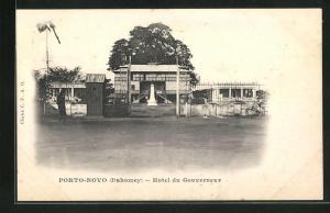 AK Porto-Novo / Dahomey, Hotel du Gouverneur